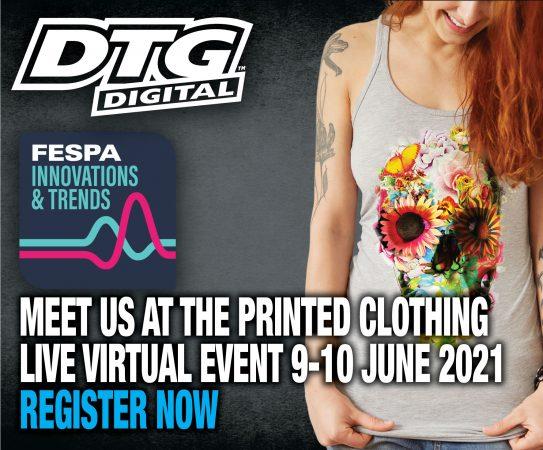 Se Presenta DTG Digital - Gold sponsor - Fespa Innovations virtual trade show